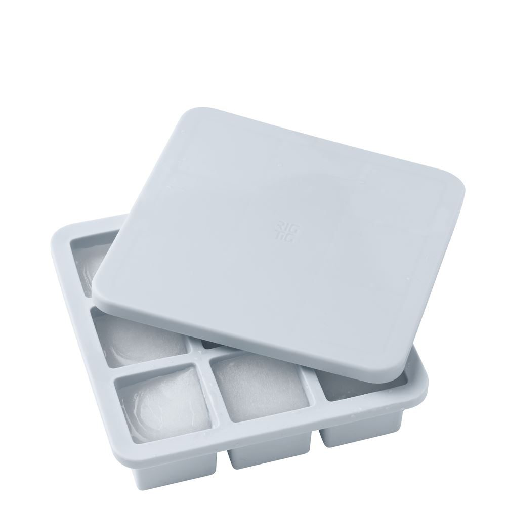 FREEZE IT ICE CUBE TRAY WITH LID  LARGE  LIGHT BLUE