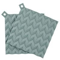 HOLD ON POT HOLDERS  2 PCS   DUSTY GREEN