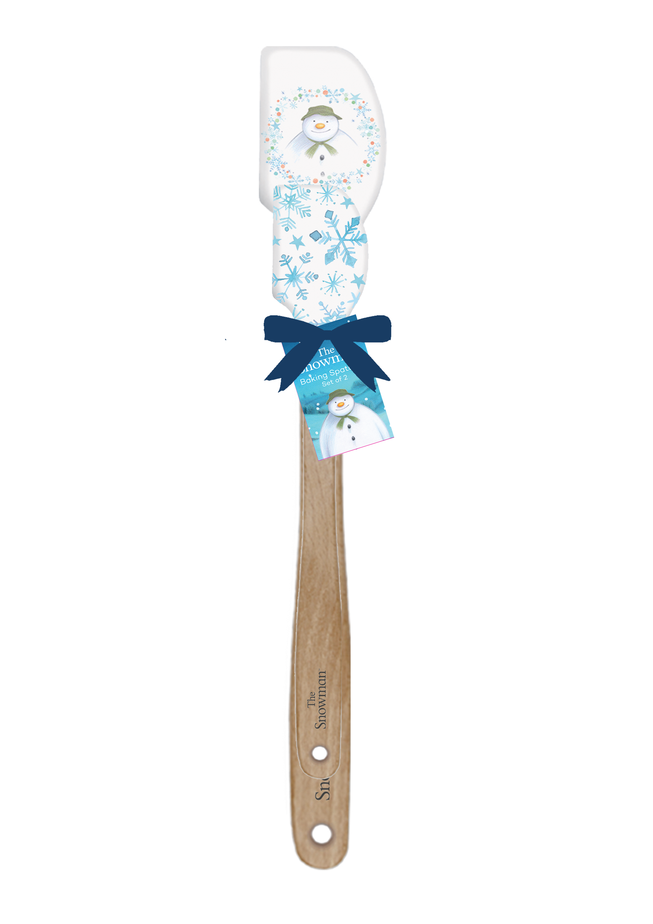THE SNOWMAN SET OF 2 ASSORTED SPATULAS (12) WHITE
