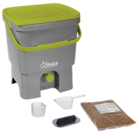 ORGANKO I GREY & LIGHT GREEN COMPOSTER WITH BRAN