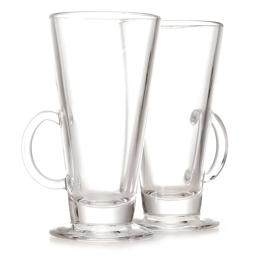 LATTE GLASSES TWIN PACK MAIL ORDER READY