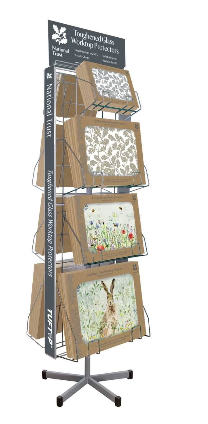 GLASS BOARD DISPLAY STAND FOR NATIONAL TRUST