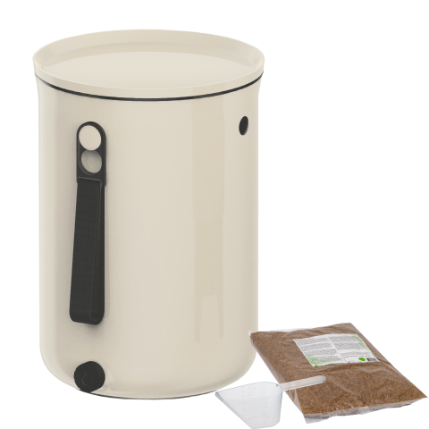 ORGANKO II WHITE WITH BRAN KITCHEN COMPOSTER